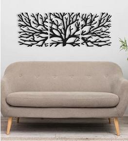Quadro Abstrato Trio Árvore Galhos