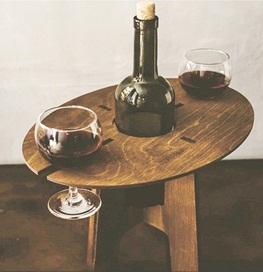 suporte de vinho e copo